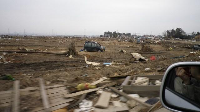 仙台平野、荒浜方面の津波被害