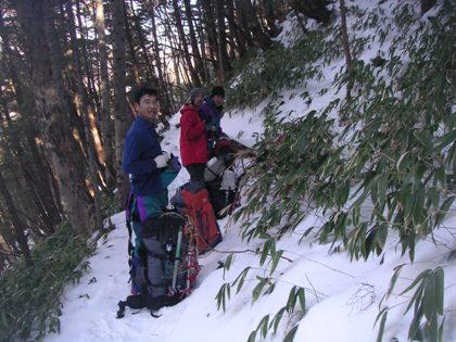空木岳2011,12冬山合宿 008