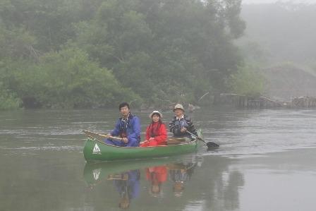 釧路湿原とうろ湖のカヌー
