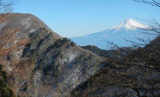 真富士神社から富士山と第二真富士山