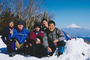 第一真富士山頂にて