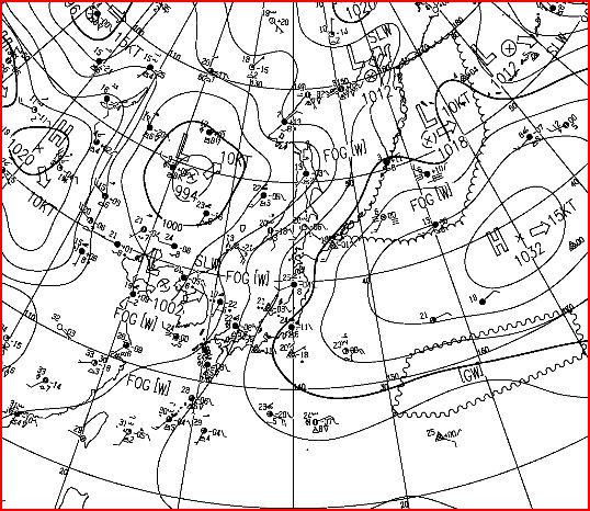 梅雨入り 地上天気図 052815