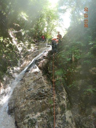 水流の右を登る