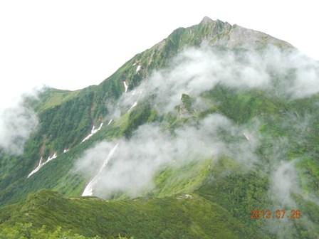 天狗岳の下りから本峰