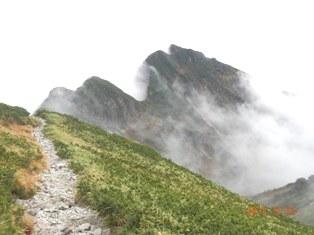 霧が晴れてきたクリヤの頭
