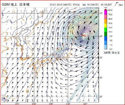 台風26号 地上