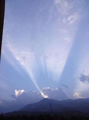 旅の終わり、駒ケ岳SAから