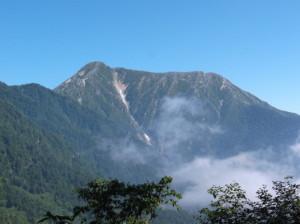 蝶ヶ岳2015、8,1 014