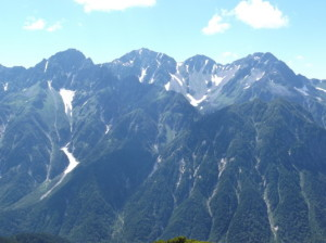 蝶ヶ岳2015、8,1 027