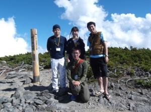 蝶ヶ岳2015、8,1 034