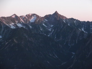 蝶ヶ岳2015、8,1 051