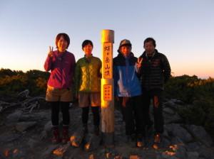 蝶ヶ岳2015、8,1 054