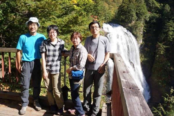 ⑬三条の滝で