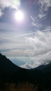 分岐から富士山