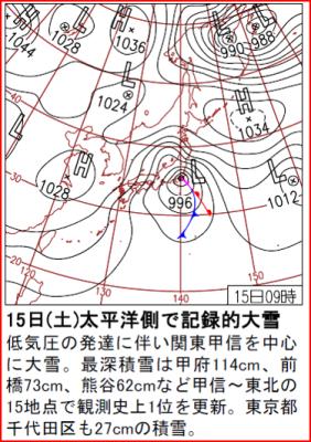 南岸低気圧 20140215