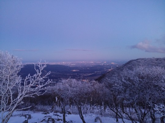 濃尾平野の夜景。