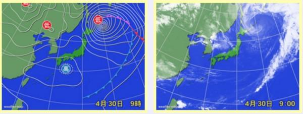0430 南アは好天 北アルプスは上空寒気で不安定な天気が続く