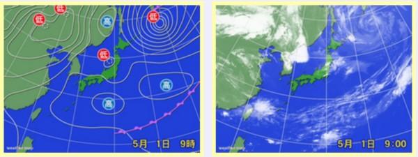 0501 日本海の低気圧で不安定な天気