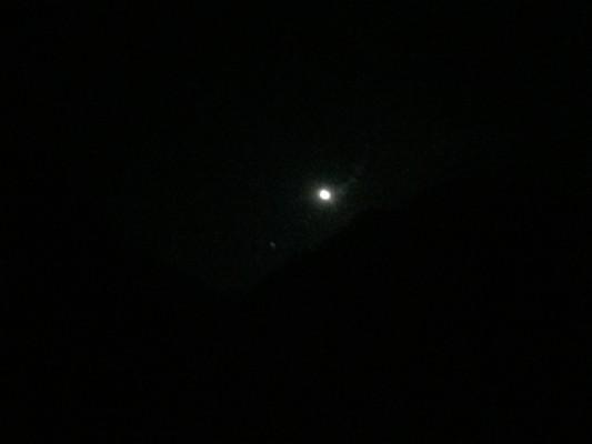 帰った時には月が出て真っ暗